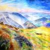 Akvarel,krajina,Eliška Patrmanová