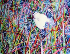 Tanec života/Dance of life,watercolor,70x100cm