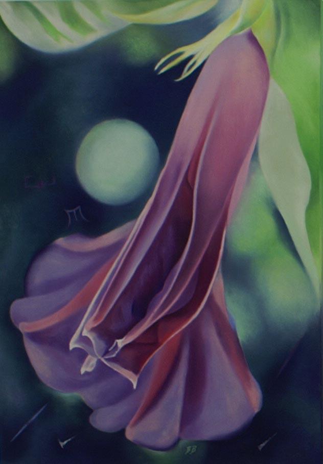 Zatmění / 2009 / 70 x 50 cm / Pastel na plátně