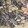 Japan green jasmine tee/watercolor/60x90cm/ frammed