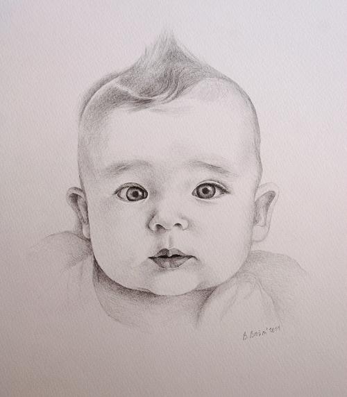 Krystufek Portret Miminka Tuzka A4 Blanka Brozova