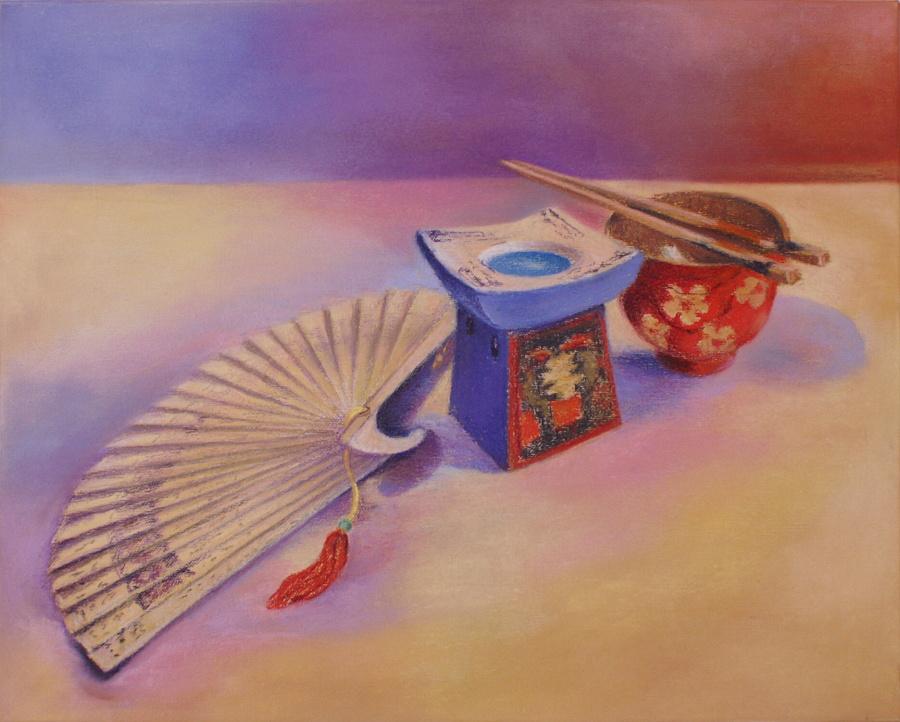 Japonské zátiší, 2012, 40x50 cm, pastel na plátně