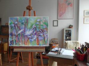 """V křehkém objetí vánku,""""In tender embrace of breeze"""" 2014,akvarel 56x76cm"""