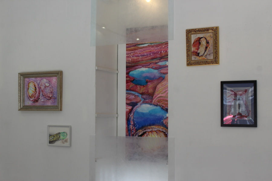 Záře kolébky na výstavě v galerii Nativ ,Praha2018