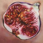 Fík-oheň uvnitř/Fig-inner fire/100x100cm/pastel on canvas/69.000 CZK