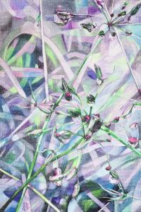 Rubínové kapky,akvarel na plátně,90x60cm 55000CZK